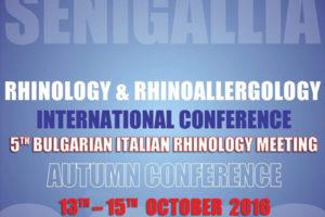 Rhinology & Rhinoallergology <br> International Conference <br> Senigallia – 13-15 Ottobre 2016